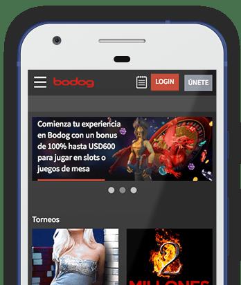 Captura pantalla móvil Bodog en Bolivia