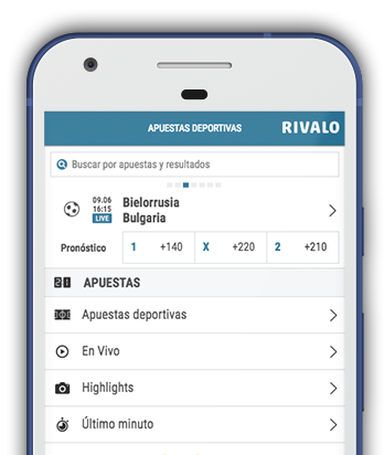 Captura pantalla móvil Rivalo en Bolivia