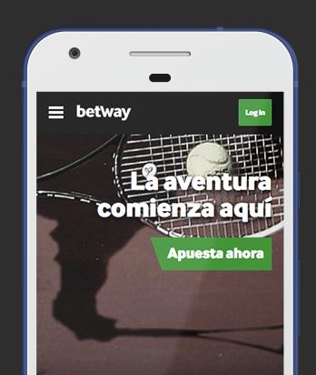 Captura pantalla móvil Betway en Bolivia