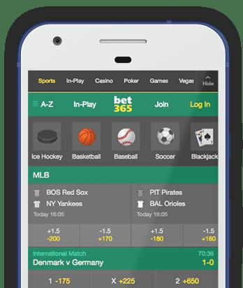 Pantalla de casa de apuestas deportivas online bet365 en Bolivia