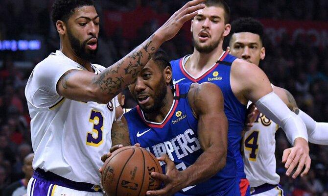 Anthony Davis y Kawhi Leonard, jugadores de Los Angeles Lakers y Los Angeles Clippers, dos de los Favoritos NBA