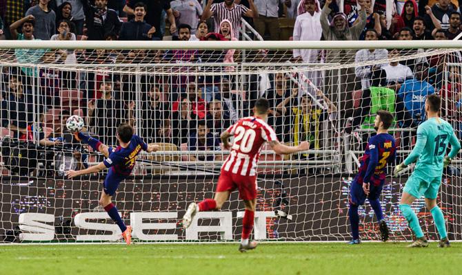 Gol en un Barcelona vs Atlético de Madrid