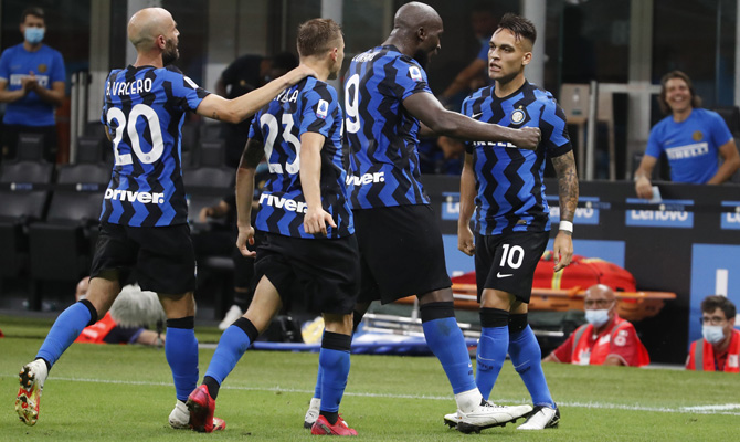 Lukaku, Lautaro, jugadores Atalanta vs Inter