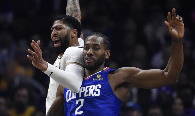 Davis y Leonard, Los Angeles Lakers vs Los Angeles Clippers