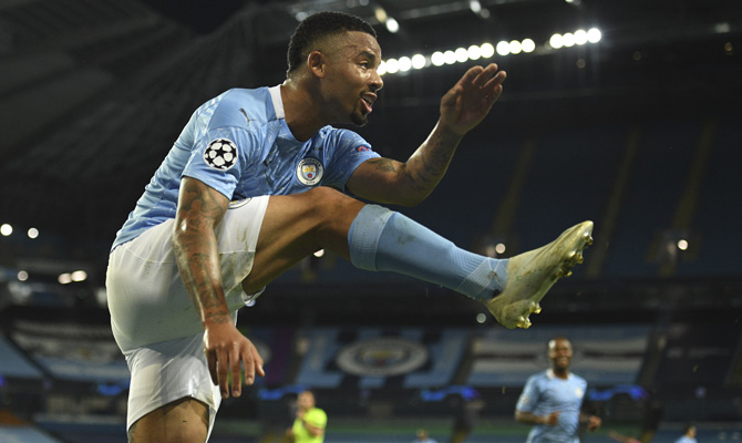 Gabriel Jesús Manchester City vs Lyon