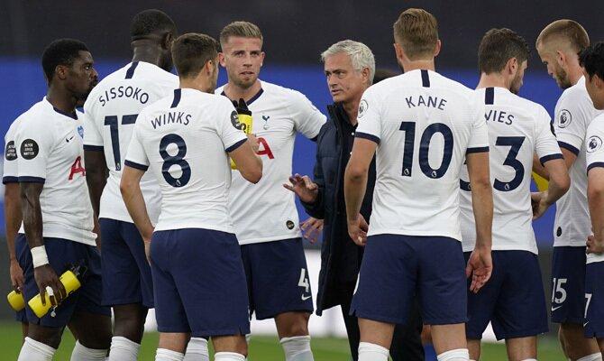 Jugadores de los Spurs, Tottenham vs Everton