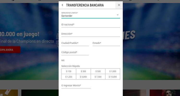 Realizar depósitos con Banco Santander